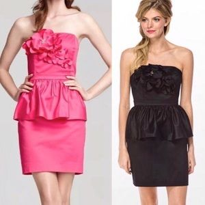Lilly Pulitzer | Black Mae Azalea Peplum Dress 10